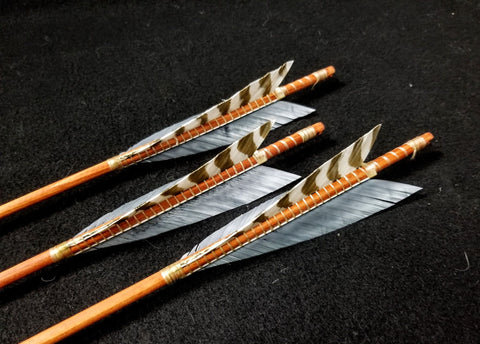 "Hand Fletched Triangle Tip Arrows (30 - 35# @ 31"") (Set of 3)"