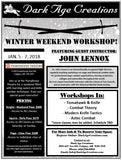 Winter Weekend Workshop Sign Up - Page Pass (Class Pass)