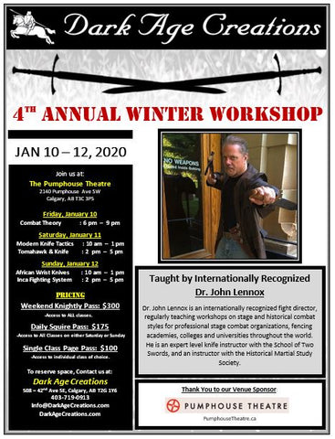 4th Annual Winter Workshop Sign Up - Weekend Knightly Pass