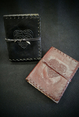 Medium Celtic Heart Leather Book