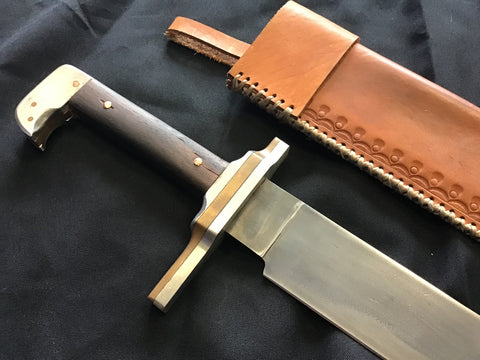 Custom - Falchion with Leather Sheath