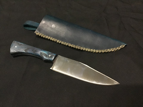 Custom - Small Bowie Knife w/ Basic Bue Sheath