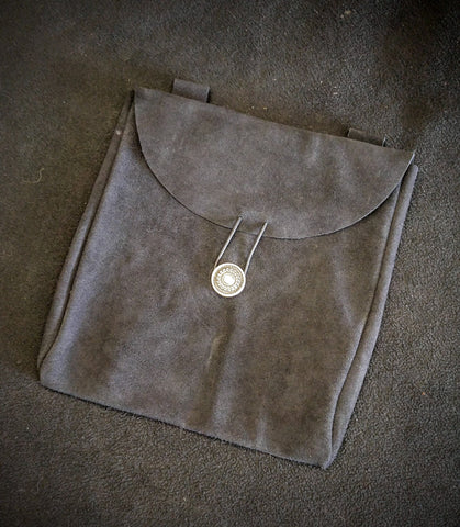 Large Suede Belt Pouch