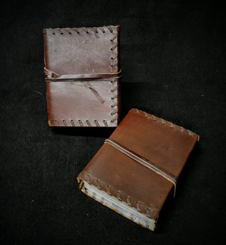 Medium Leather Book with Stitched Edges