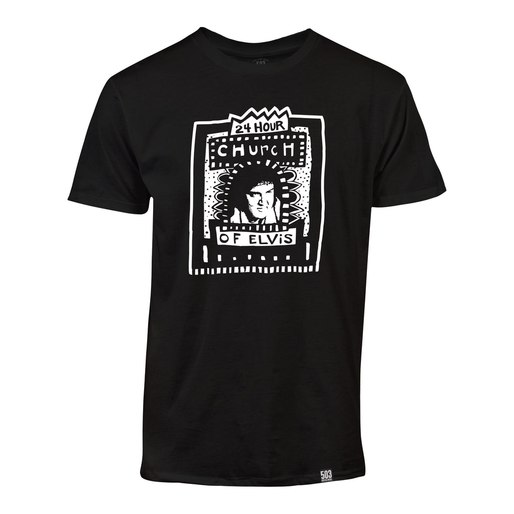 24 Hour Church of Elvis Tee - 503 Original Apparel