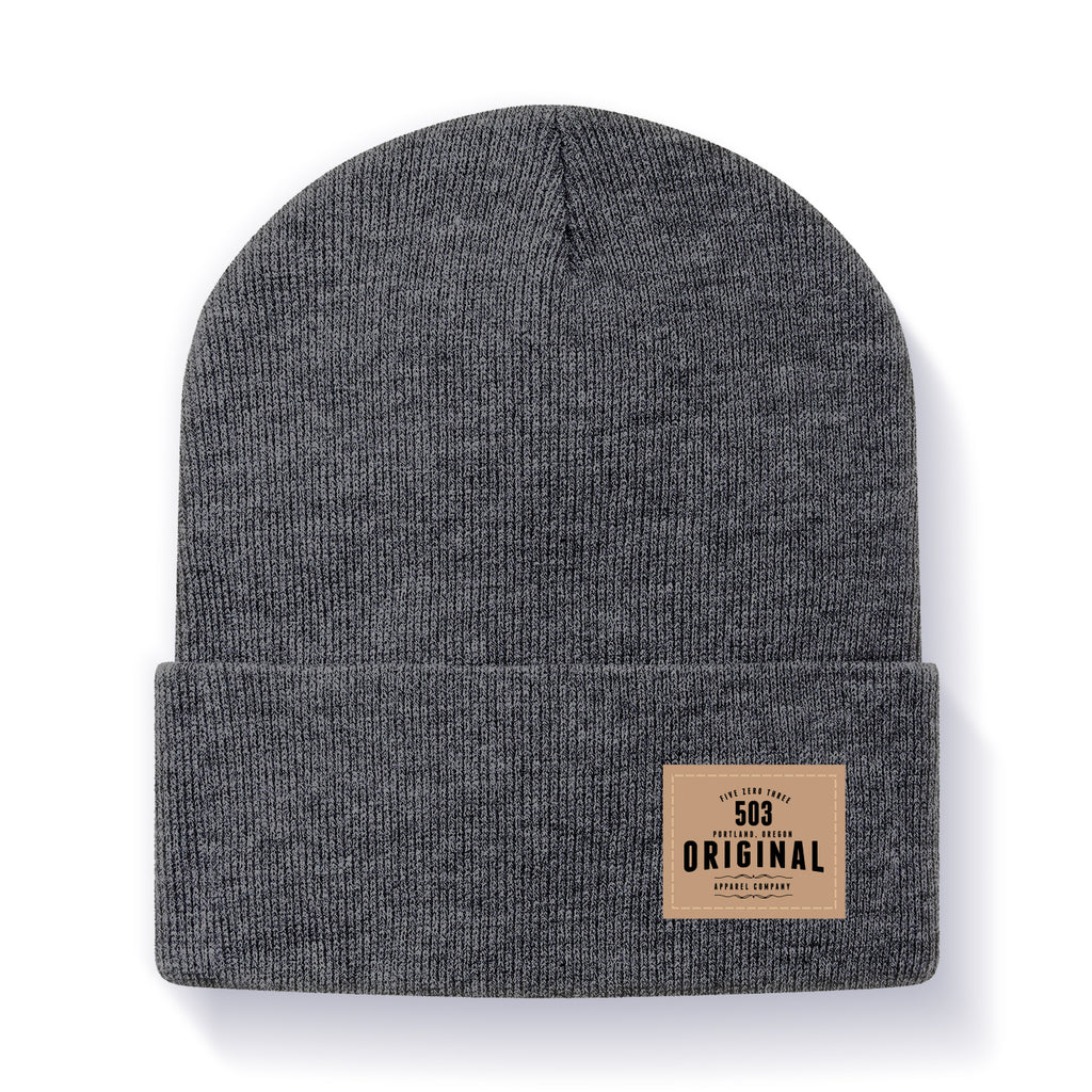 503 Leather Cuff Beanie - 503 Original Apparel