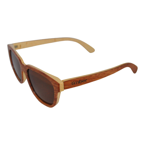 Audrey wood sunglasses - bubinga and walnut wood