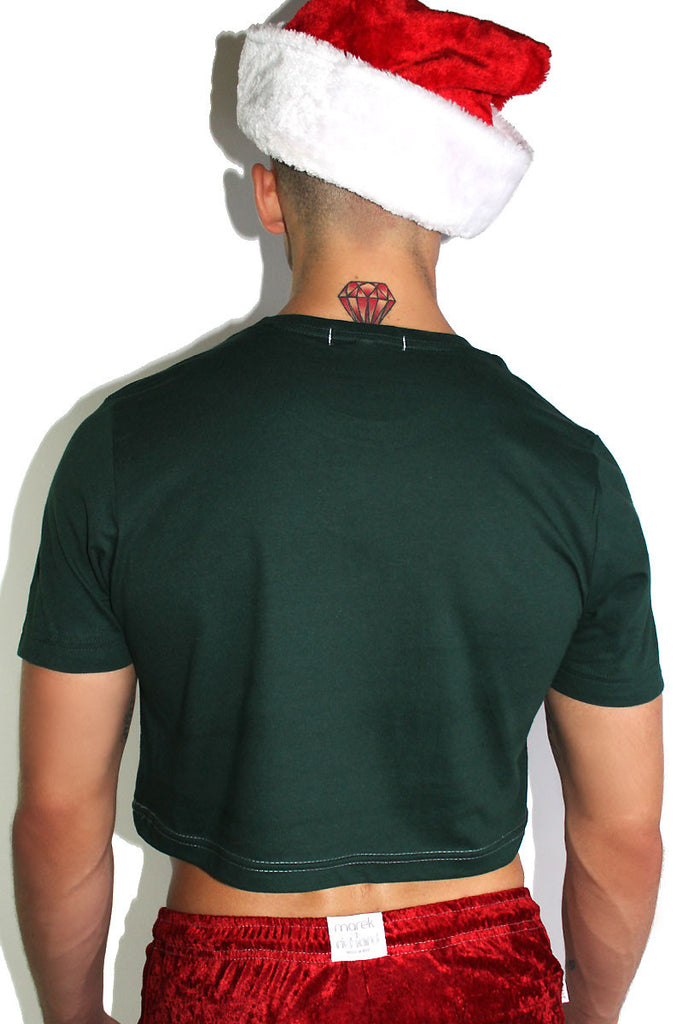 12 inches of Christmas Crop Tee-Green