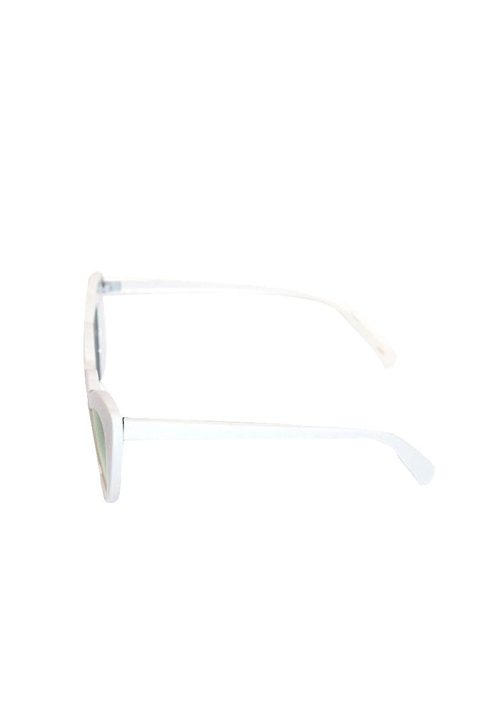 Heart Cat Eye Sunglasses-White
