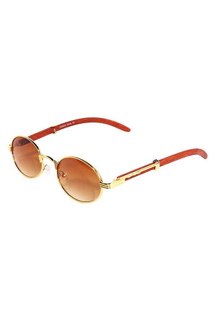 Golden Oval Sunglasses-Gold