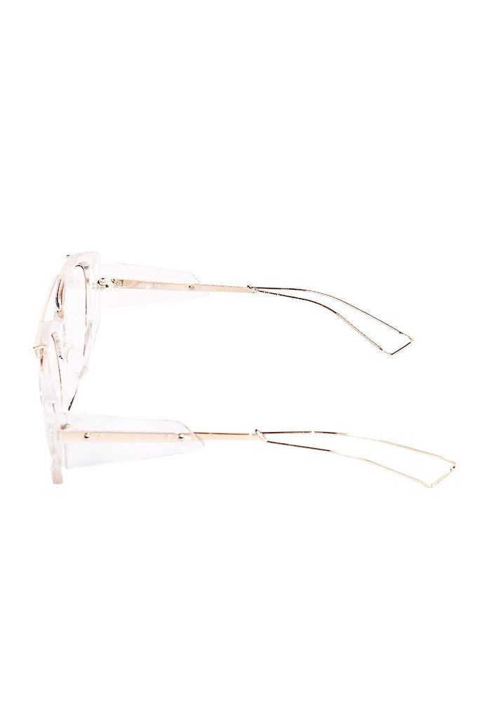 Acrylic Wire Aviator Sunglasses-Clear