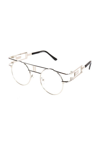 c8fccda42f Clear Boston Rim Sunglasses-Silver