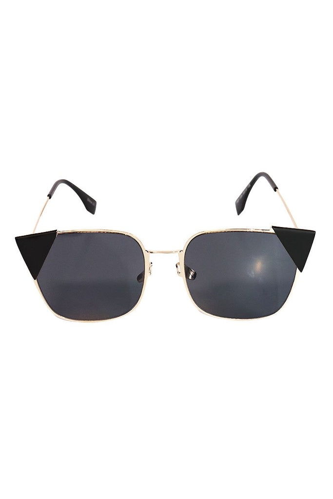 Triangle Tip Lexington Sunglasses-Black