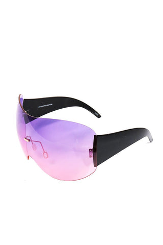 Large Shield Duty Sunglasses-Purple