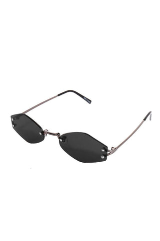 06ae848407 Frameless Pentagon Sunglasses-Black