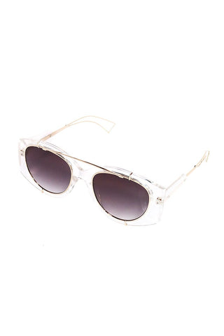 c95fb63819 Acrylic Aviator Sunglasses-Black