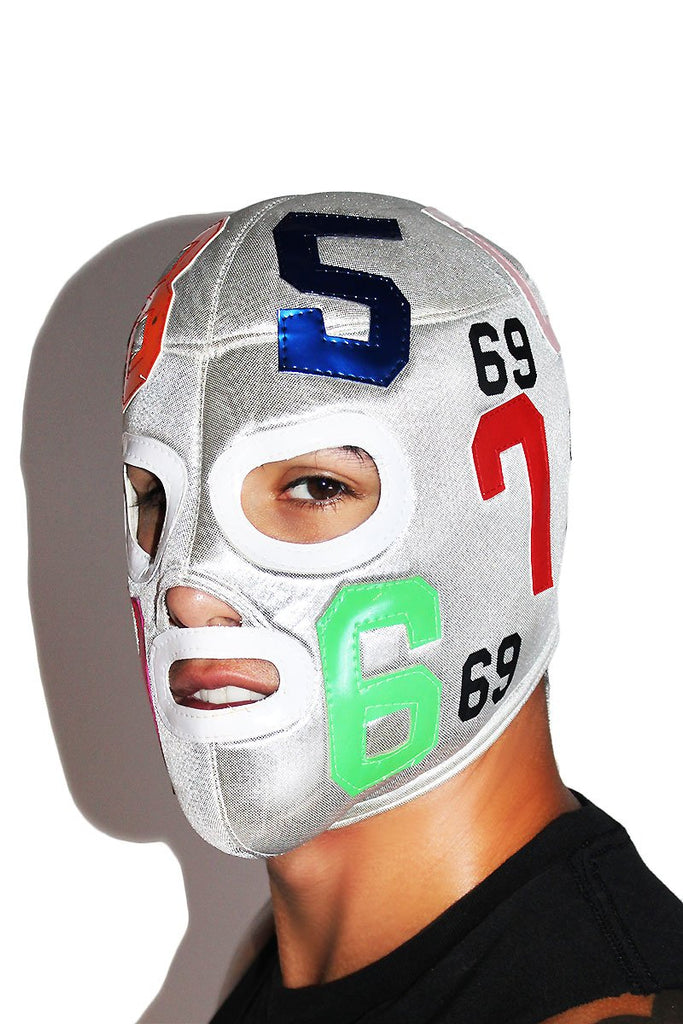 69 Luchadore Mask-Silver