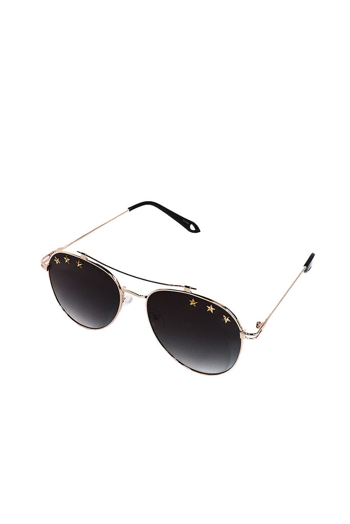 Star Aviator Sunglasses-Black