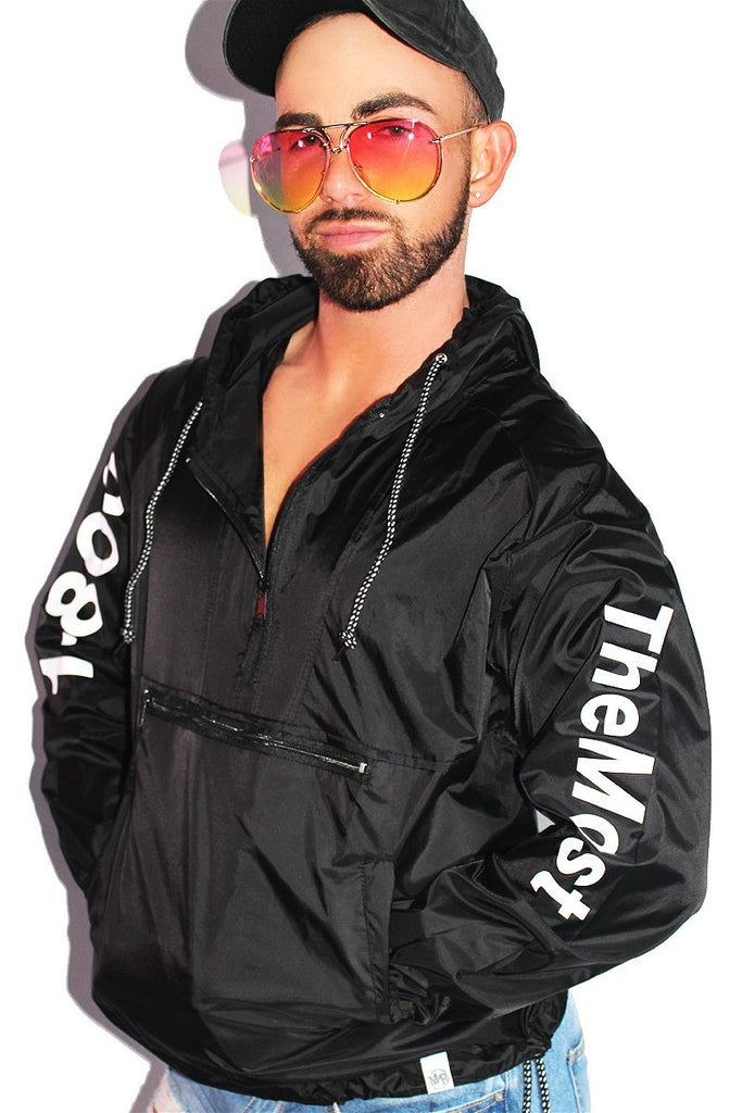 1-800-TheMost Windbreaker Jacket-Black