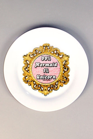 99% Mermaid 1% Unicorn Dinner Plate
