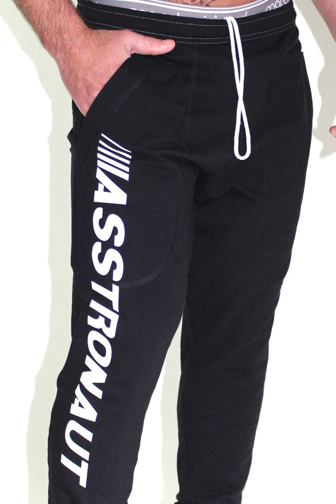Asstronaut Drop Crotch Jogger- Black