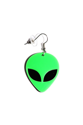 Alien Single Earring-Green
