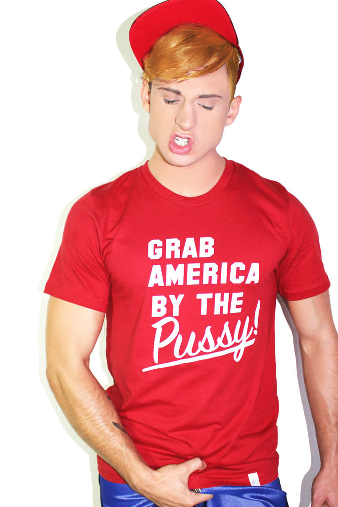 Grab America By The Pussy Tee-Red