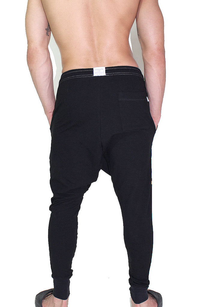 Anubis Drop Crotch Joggers- Black