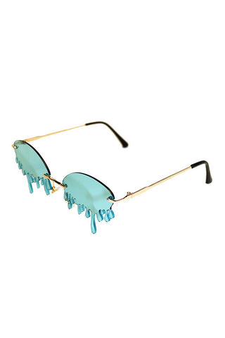 Thirsty Dripping Sunglasses-Blue