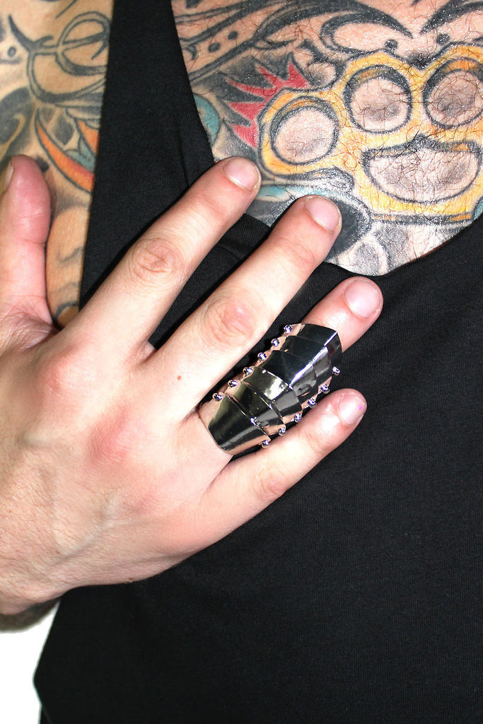 Knuckle Armour Ring- Silver