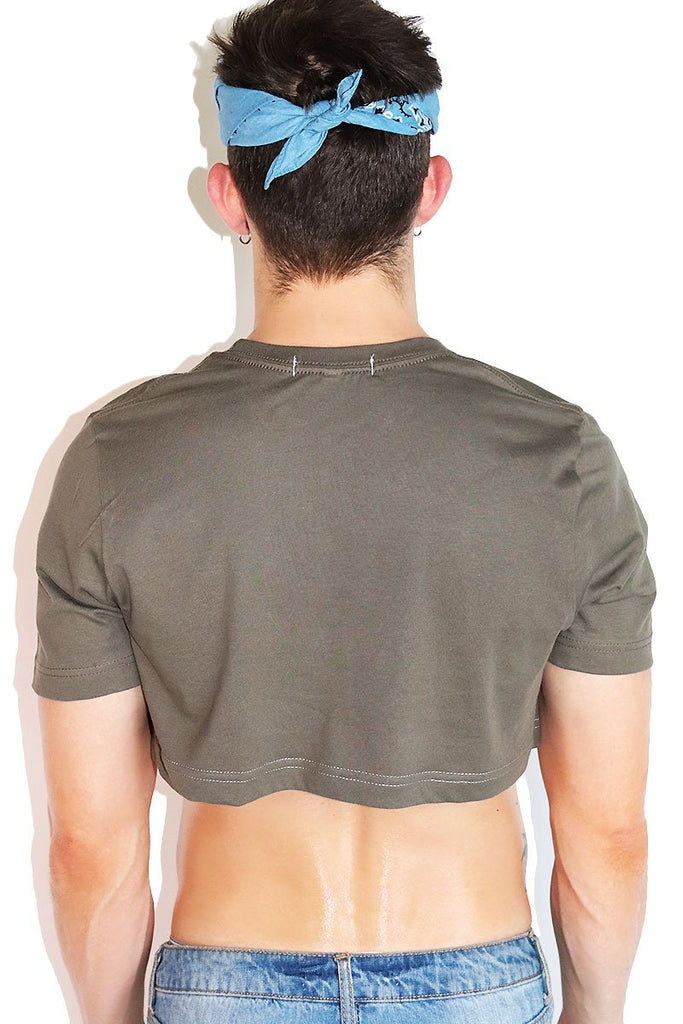Core Extreme Crop Tee-Army Green