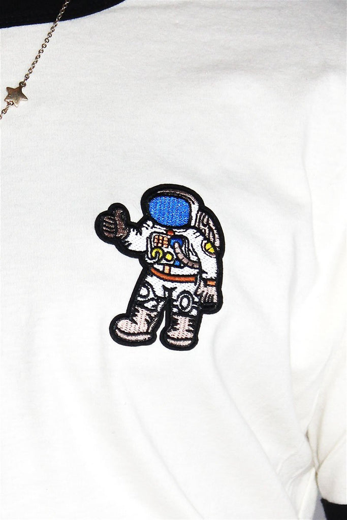 Cool Astronaut Ringer Tee-White