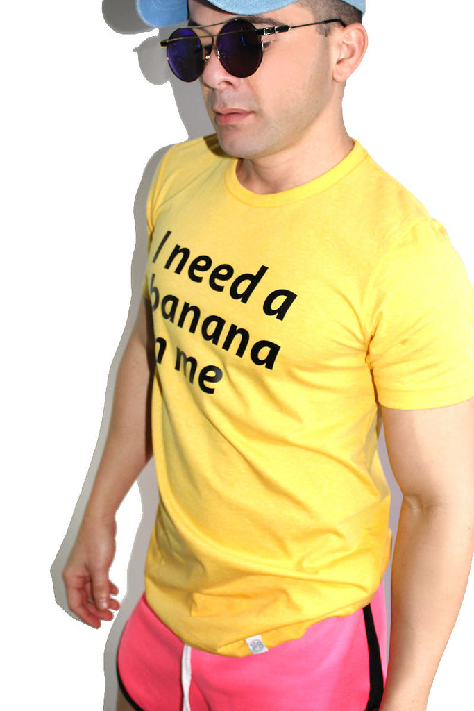 Banana In Me Tee- Heather Yellow
