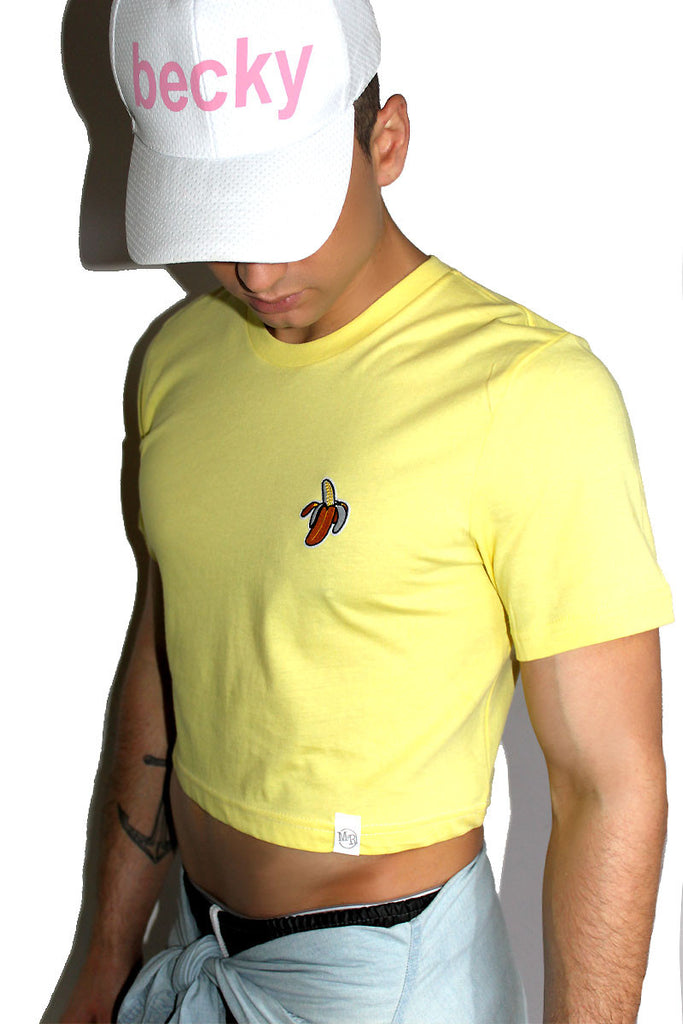 Banana Patch Crop Tee-Yellow