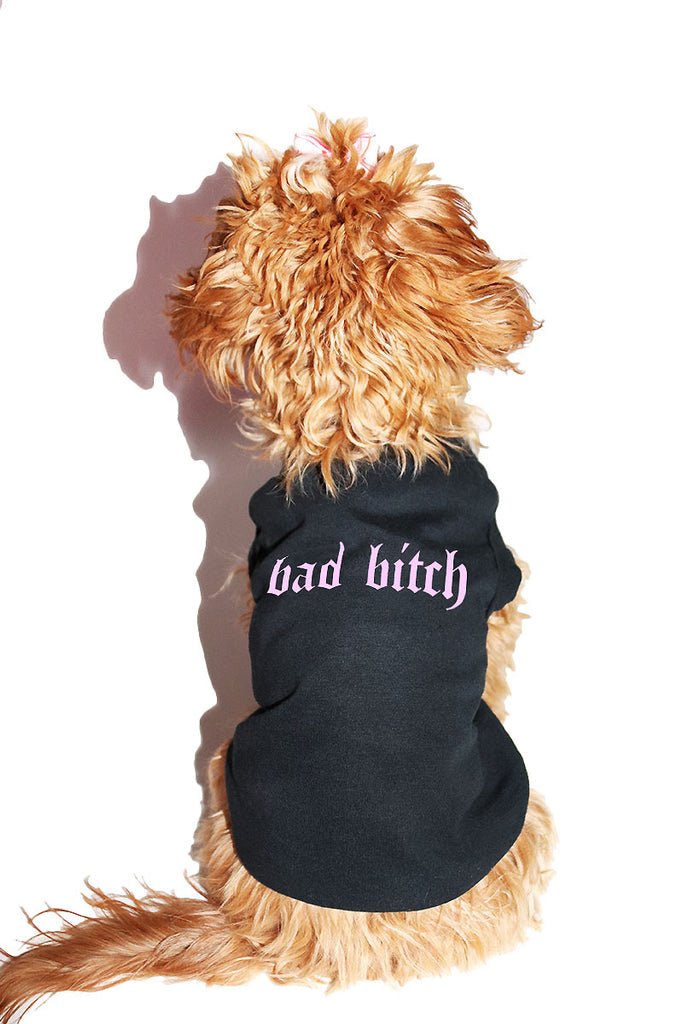 Bad Bitch Dog Tee- Black