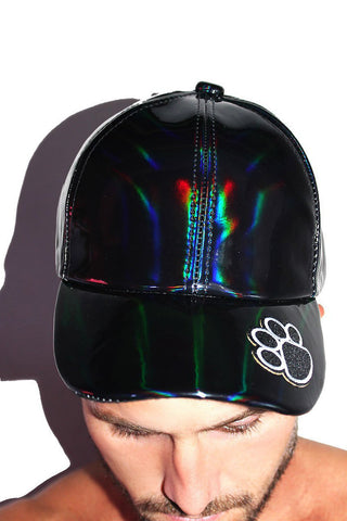 Bear Paw Metallic Dad Hat- Black