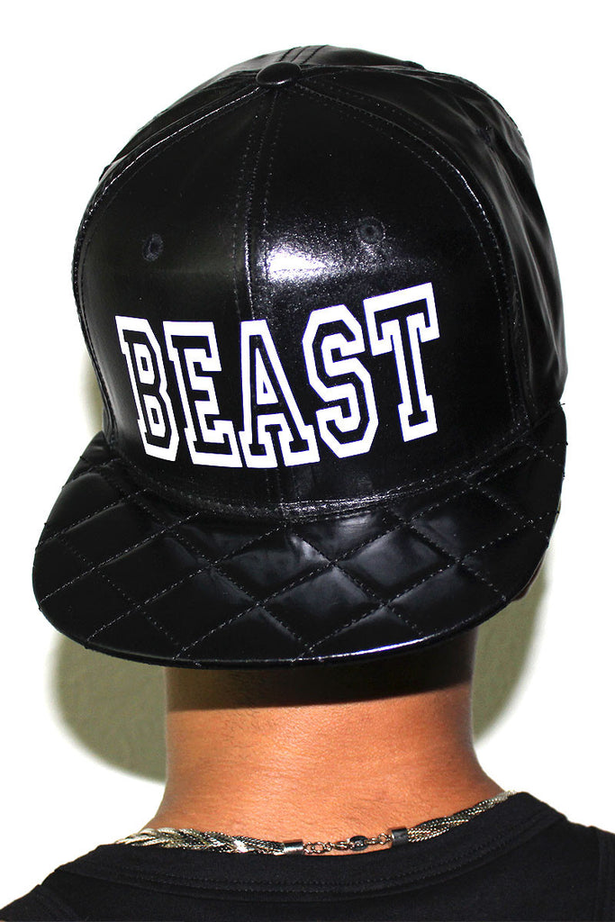 Beast Slick Quilted Snap Back Hat-Black