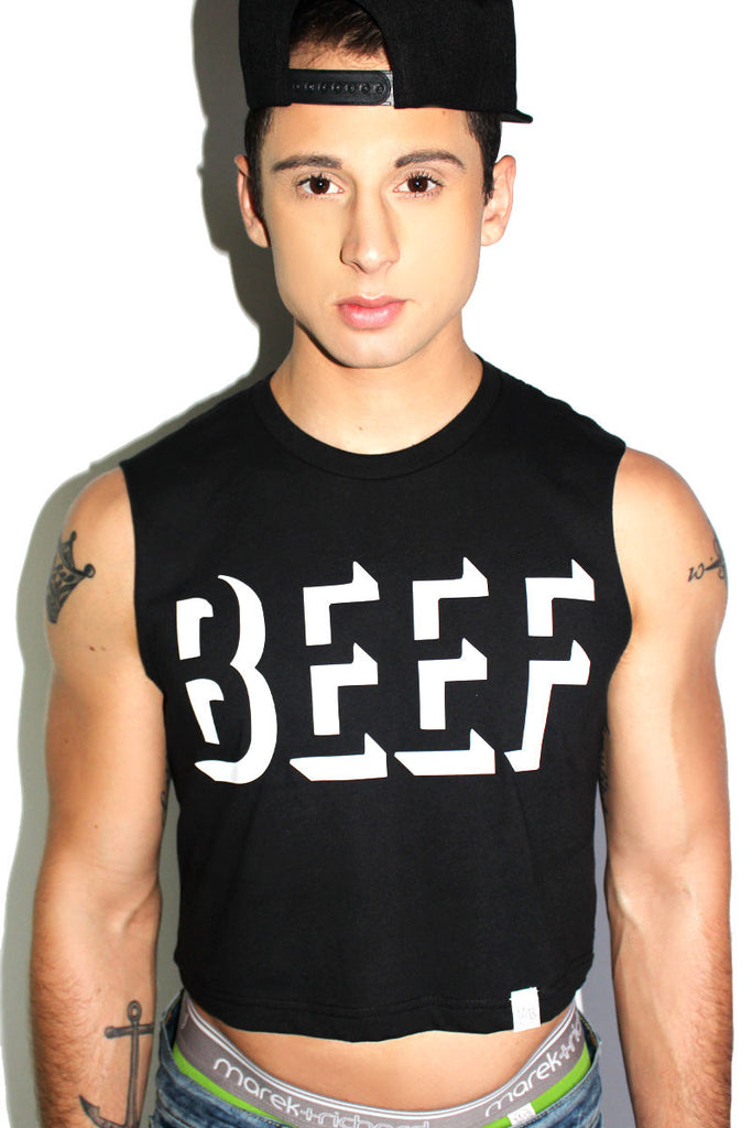 Marek+Richard BEEF Crop Tank-Black lCDtPOt