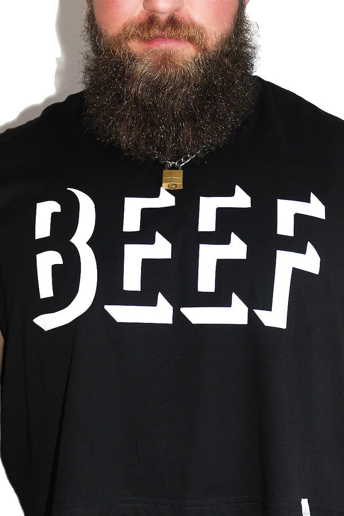 PLUS: BEEF Crop Tank-Black