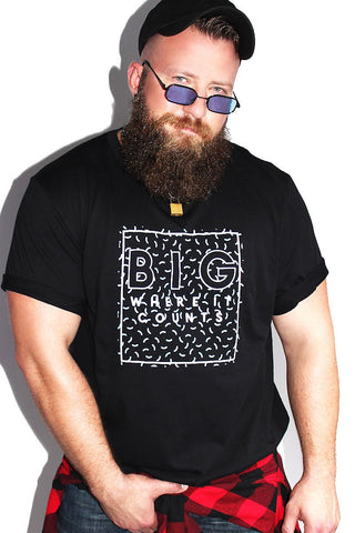 PLUS: Big Where It Counts Tee - Black