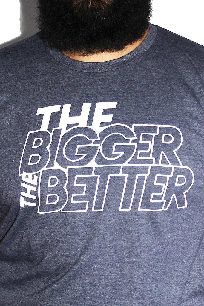 PLUS: The Bigger the Better Tee-Heather Navy