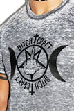 Bitchcraft Burnout Crop Tee- Acid Grey
