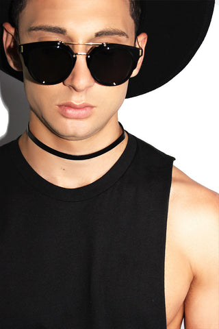 Vegan Leather Basic Choker-Black