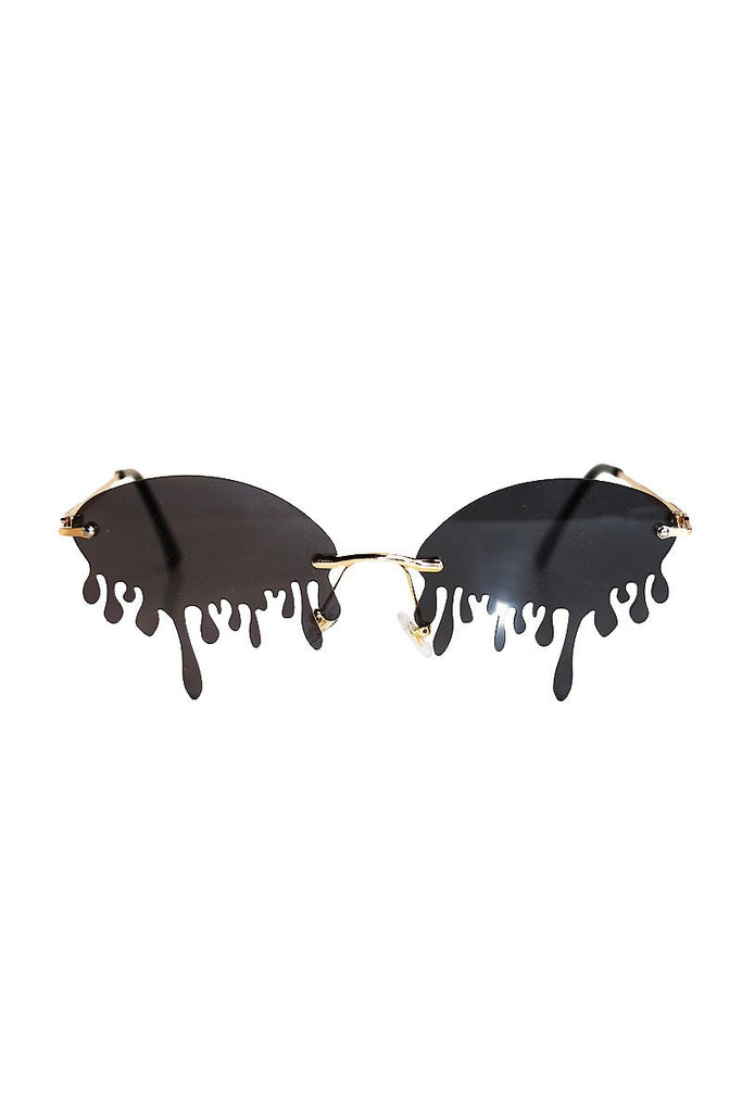 Thirsty Dripping Sunglasses-Black