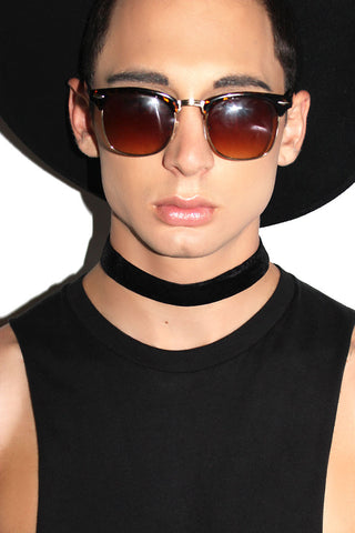 Thick Velvet Choker-Black