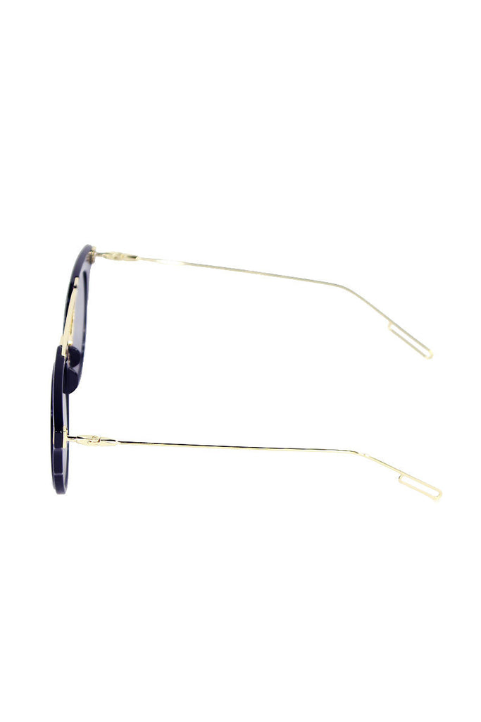 Wire Acrylic Frame Sunglasses-Black