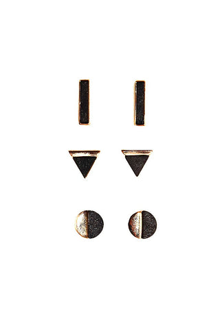Mojave Set Earring Studs-Black