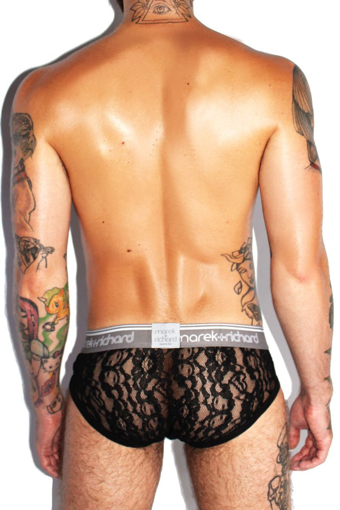 Midnight Lace Brief-Black