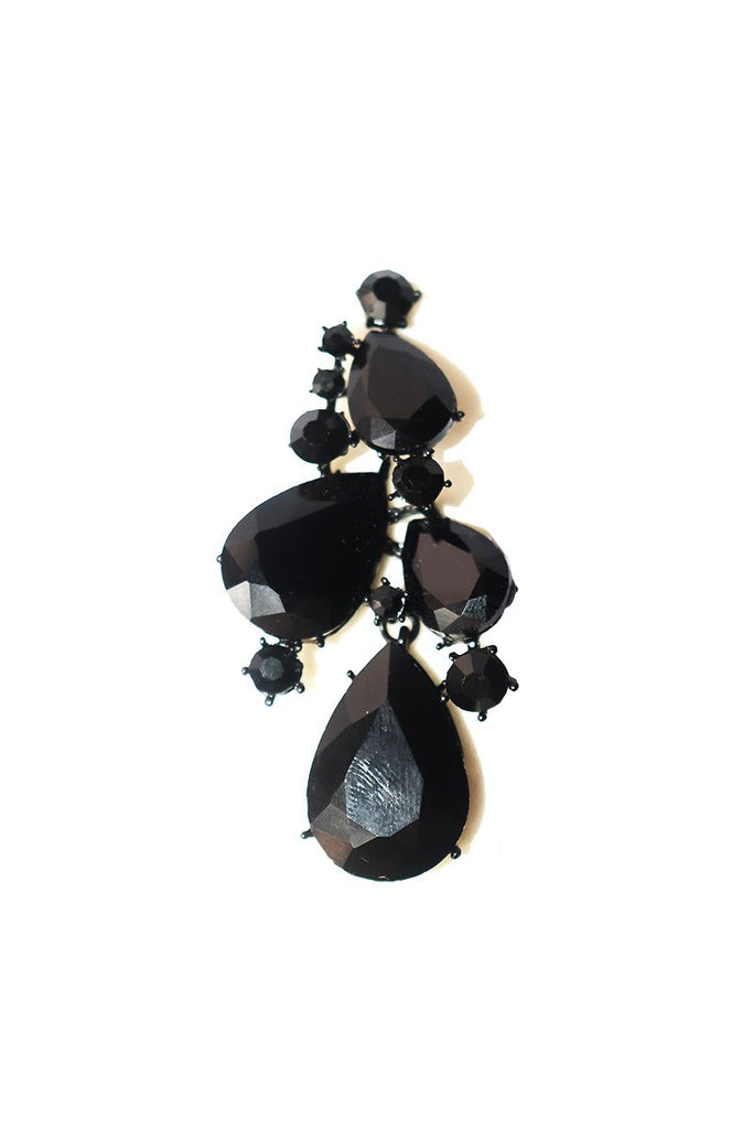 Dark Fantasy Single Earring-Black