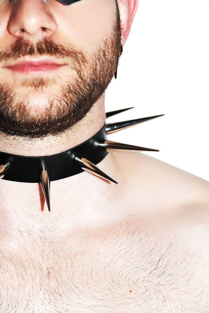 Lethal Spikes Collar Choker- Black